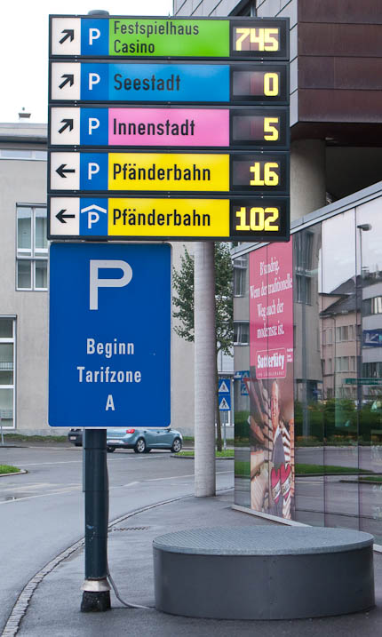 electronic parking sign